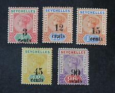 Ckstamps: Gb Stamps Collection Seychelles Scott#22-26 Mint H Og