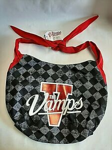 The Vamps Girl Shoulder Bag Purse Tote w/Big Red V & White Letters NEW Loungefly