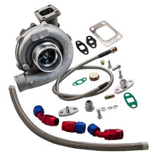 T3/T4 T04E .57 A/R TURBO CHARGER+FEED RETURN LINE for CIVIC EM2 ES1 EP3 D17 K20
