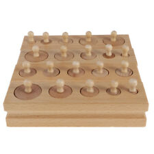 Kids Early Educational Toys Montessori Material - Knobbed Cylinder Blocks