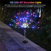 LED Solar Firework Lights Starburst Fairy Outdoor Garden Path Lawn Decor Lamp