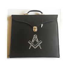 Masonic Regalia BrifeCase For MM/WM Apron with Hard Handle Square Compass