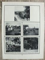 Blatt 1914-18 Rotes Kreuz Wagen Krankenträger Übung Feldbäckerei Küche WWI 1.WK