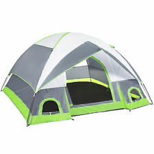 4 Person Camping Tent Family Outdoor Sleeping Dome Water Resistant W/ Carry Bag