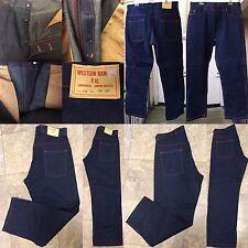 Western Ranger 8 Oz Sanforized Copper Riveted Lot 78 Button Fly Jeans NOS