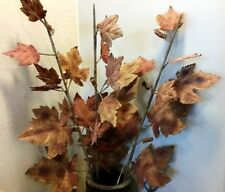 BEAUTIFUL PLUS 1 IMPORTS  221584AUT LARGE FROSTED GRAPE LEAF SILK FLORAL NIB