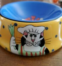 Catzilla cat food dish/bowl by Candace Reiter 2001