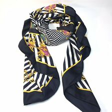 Vintage Large Scarf Lions And Shields Stripes 42x46�