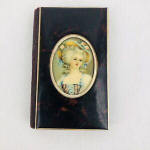 "1930s Cameo Mini Address Book Portrait Vintage Victorian Picture 3.5"" x 2.25"""