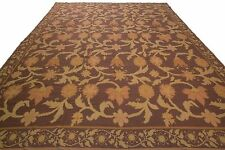 Stark Antique Bessarabian Needlepoint Rug Purple Arts and Crafts 12'x14' C.1960