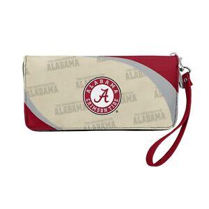 Alabama Crimson Tide Ladies Women's Curved Zipped Wallet Organizer Shell NWT