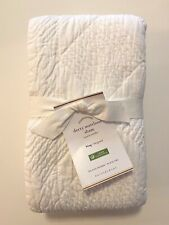 NWT Pottery Barn White DERRY MATELASSE Pillow SHAM Cotton KING