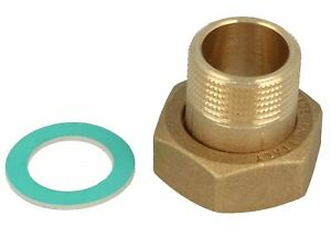 Tecuro Überwurfverschraubung 1/2-Inch Nut x 3/8Inch External Thread–Brass