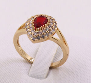 New Pretty Jewellery Natural 1.78ct Ruby 14k Solid Yellow Gold Ring Size 8.5#