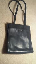 Adorable black leatherette bag. Eco friendly way to bring lunch or essentials!