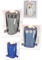 Croft & Barrow Christmas Shirts Reindeer Cardinal Snowflake Plus Size 1X 2X 3X