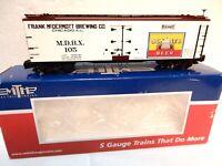 MTH  S Gauge Toy Trains -Senate Beer 40' Woodside Reefer Car -Ln w orig box Look
