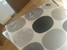 Black And Grey Spotty Curtains 46inch x 72inch Drop