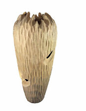 Hand Carved Mango Wood Gaudi Vase Tall, Floor vase Natural Wooden Decor Handmade