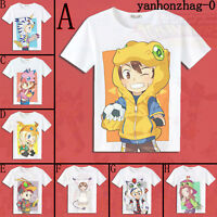 Anime Digimon Digital Monster Cosplay Summer Short Sleeve T-shirt Tops Tee S-3XL