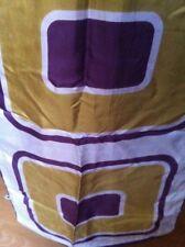 Pierre Balmain echarpe vintage 70's étole soie motif grande forme géométrique