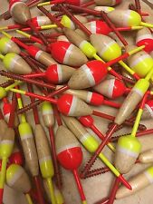 US SELLER* 50 Balsa Wood Spring Bobber Crappie Floats Assorted Sizes