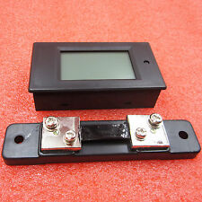 DC 50A 6.5-100v Meter Voltage Current Power Energy Combo Monitor 50A Shunt
