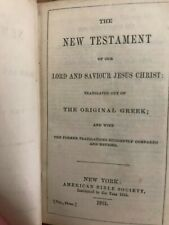 Original Identified Civil War Pocket Bible, 1861 with 1863 inscriptions