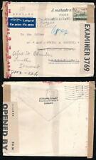 SWITZERLAND WW2 DOUBLE CENSORED GB + 3rd REICH...FRANZ PRINTED ENVELOPE