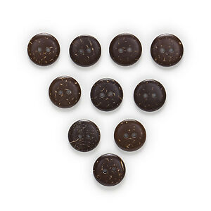 100pcs 2 Hole Brown Coconut Shell Buttons Sewing Scrapbooking Decor 10mm