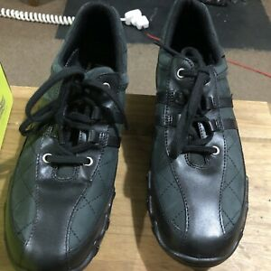 Hotter Trainers Leanne Size 6.5 Exf Black Nubuck Leather BNWT & Box