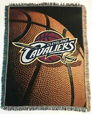 """Cleveland Cavaliers NBA Basketball 45""""x 59"""" Woven Tapestry Throw Blanket Fringe"""