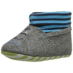 Rosie Pope Kids Footwear Handsome Sailor Gray Infant Crib Shoes 3-6 MO  4856