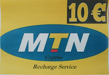 Cyprus Recharge Service - MTN Cyprus PrePaid €10 Credit Recharge Service