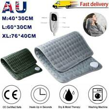 Electric Heating Pad Heated Therapy Fast Neck/Shoulder/Back Pain Relief Auto Off