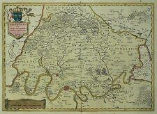 ILE DE FRANCE / PARIS - Willem Blaeu - kolorierte Kupferkarte 1644/45