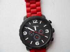 Fossil chronograph mens silicon/rubber band quartz & battery Analogwatch.Jr-1422