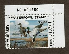 NJ2A - New Jersey State Duck Stamp. PNS. MNH.OG. Non Resident. #02 NJ2APNSTR