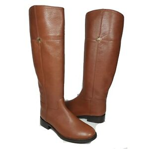 Tory Burch Women boots Jolie Leather Rustic Brown Riding Boots Size 5 M US new