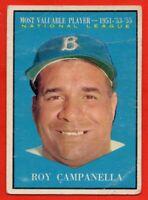 1961 Topps #480 Roy Campanella GOOD CREASE MVP Los Angeles Dodgers HOF FREE S/H