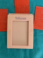 """Walt Disney World Pink Princess Picture Frame Great Condition Size 4"""" x 6"""""""