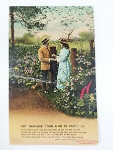 Postcard - Not Because Your Hair Is Curly (3). Bamforth & Co, Series No. 4523/3