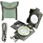 BW Bundeswehr Armeekompass mit Etui oliv, Kompass Metallgehäuse Marsch