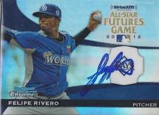Felipe Rivero Tampa Bay Rays 2012 All Stars Futures Bowman Chrome Signed Card