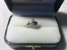 K White Gold Size 5.Appraisal Diamond Wedding Ring Band&Engagement Ring. 14
