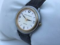 Charles Jourdan Vintage Watch Ladies Analog Genuine Leather Band Wrist Watch WR