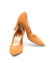 Gibellieri 3367 Beige Suede Pointy Pumps  37 / US 7