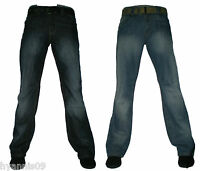 Mens Boot Cut Boot Leg Designer Denim Jeans W 30 32 34 36 38 40  Aztec