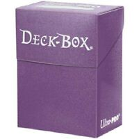 Ultra Pro PURPLE DECK BOX (New) Holds 80 Sleeved Magic/Pokemon/Yu-Gi-Oh Cards