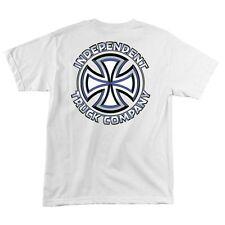 Independent Trucks Chisel Skateboard Shirt White Medium